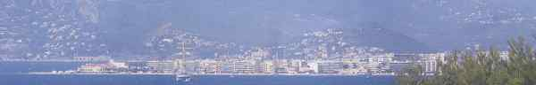 view of Cannes from Cap d'Antibes