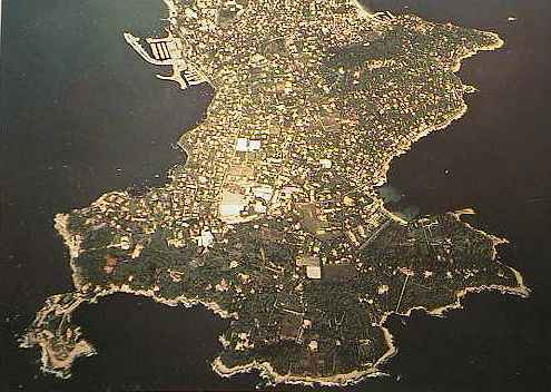aerial view of the Cap d'Antibes